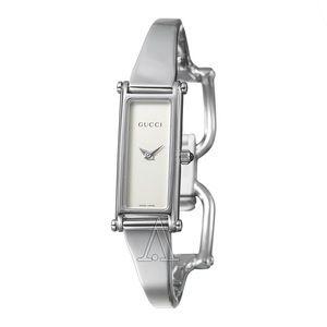 Gucci Silver Cuff Watch